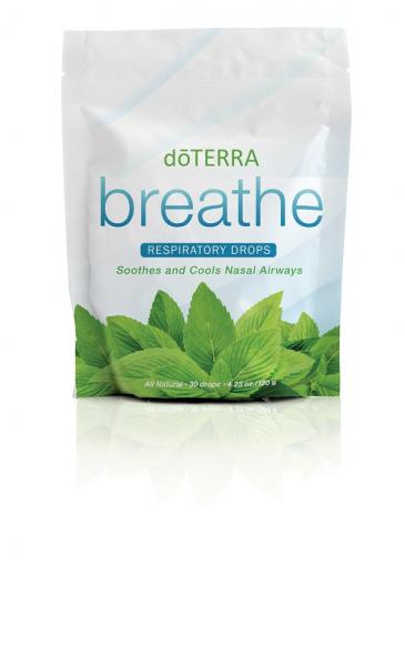 Bomboane pentru gat doTERRA Breathe Respiratory Drops 30 drajeuri - pentru o respiratie mai usoara