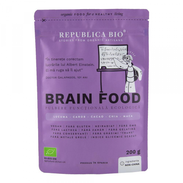 Brain Food, pulbere functionala ecologica Republica BIO - 200 g 0