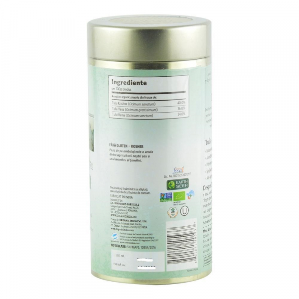 Ceai Tulsi (Busuioc Sfant) Original 100g Organic India - Antistres & Energizant 1
