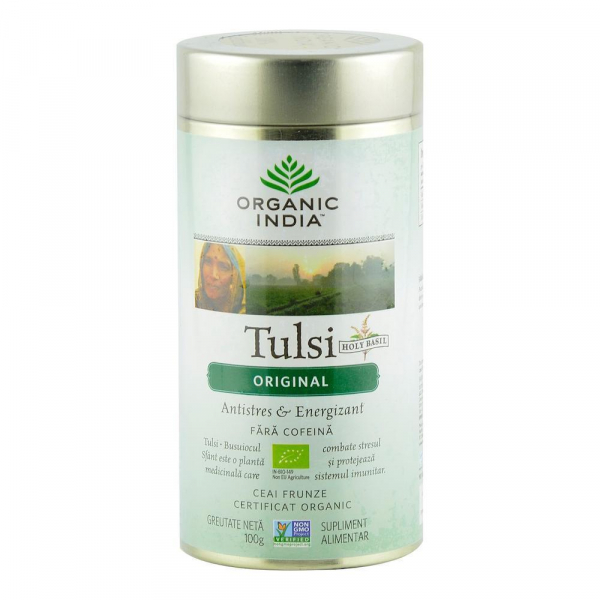 Ceai Tulsi (Busuioc Sfant) Original 100g Organic India - Antistres & Energizant 0
