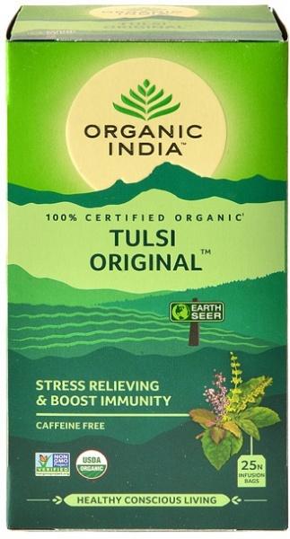 Ceai Tulsi (Busuioc Sfant) Original | Antistres Natural & Energizant, plicuri Organic India 25 plicuri 0