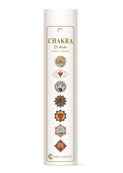 Betisoare parfumate - mix pentru cele 7 chakre - 21 buc. - Fiore D'Oriente 0