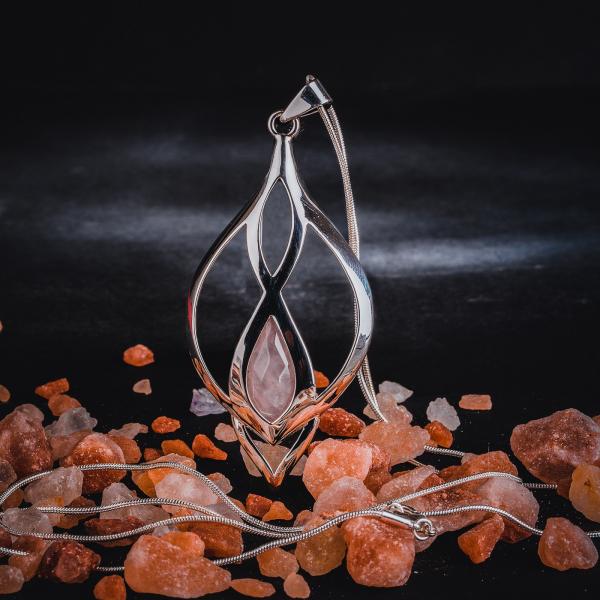 Colier si lant din inox, suflate cu argint Infinity Quartz by ZaZa 0