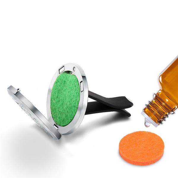 Difuzor auto 3.8 cm pentru uleiuri esentiale Naturall - model geometrie sacra din inox
