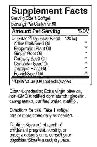 DigestZen® Softgels  Digestive Blend 60 cps doTerra - ajuta la calmarea durerilor de stomac ocazionale! [1]
