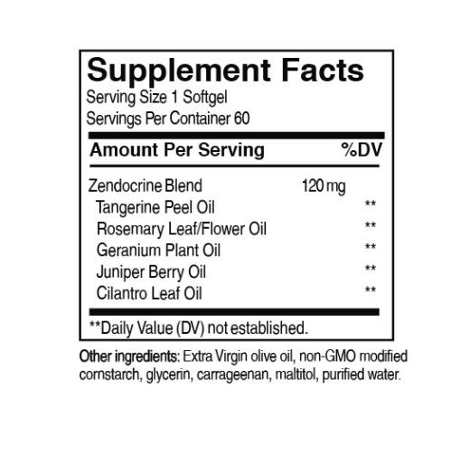 doTerra Zendocrine® Softgels Detoxification Blend  - 60 cps moi - ajuta la dexotul ficatului, plamanilor si colonului. 1