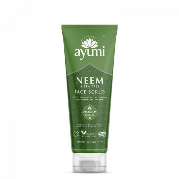 Exfoliant facial cu Neem & Tea Tree, Ayumi, 125 ml 0