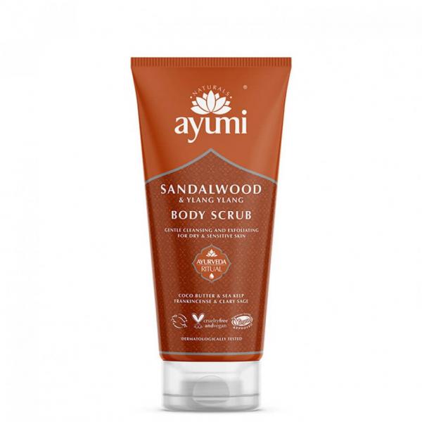 Exfoliant pentru corp cu Lemn de Santal si Ylang Ylang, Ayumi, 200 ml 0