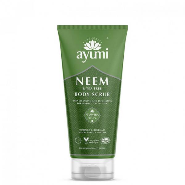 Exfoliant pentru corp cu Neem & Tea Tree, Ayumi, 200 ml 0