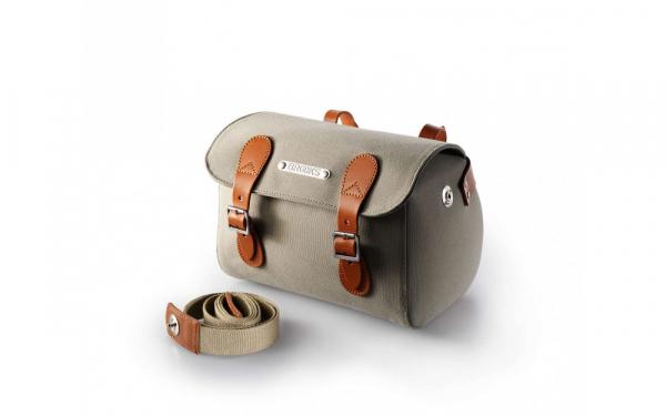 Geanta Brooks design din material textil rezistent la apa si piele originala! 2