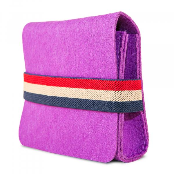 Mini geanta din fetru pentru pastrarea uleiurilor esentiale, mov, CuteBag 2