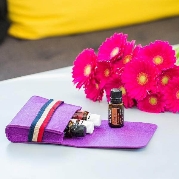 Mini geanta din fetru pentru pastrarea uleiurilor esentiale, mov, CuteBag 0