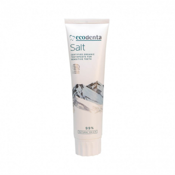 Pasta de dinti pentru dinti si gingii sensibile cu sare naturala, Cosmos Organic, Ecodenta, 100ml 0