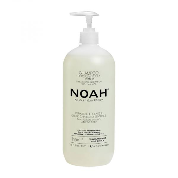 Sampon natural fortifiant cu lavanda pentru uz frecvent si scalp sensibil (1.3), Noah, 1000 ml 0
