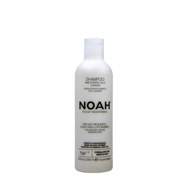 Sampon natural fortifiant cu lavanda pentru uz frecvent si scalp sensibil (1.3), Noah, 250 ml 0