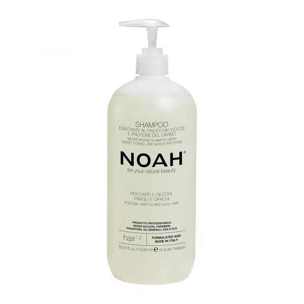 Sampon natural hidratant cu fenicul pentru par uscat, fragil si lipsit de stralucire Noah, 1000 ml [0]