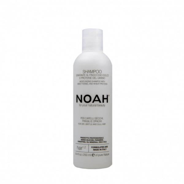 Sampon natural hidratant cu fenicul pentru par uscat, fragil si lipsit de stralucire (1.2), Noah, 250 ml 0