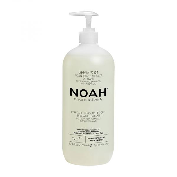 Sampon natural regenerant cu ulei de argan pentru par foarte uscat si tratat (1.4), Noah, 1000 ml 0