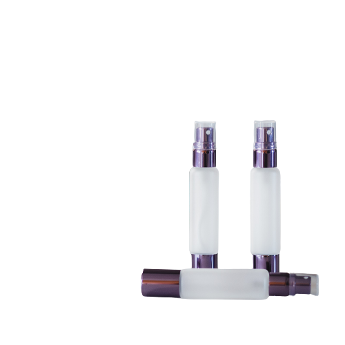 Set 3 sticle 10 ml dublu capat, spray + roll-on metalic frosted glass ZaZa 4