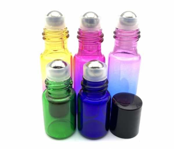 Set 5 produse sticle uleiuri esentiale 5ml + 2 ml cu roll-on 0