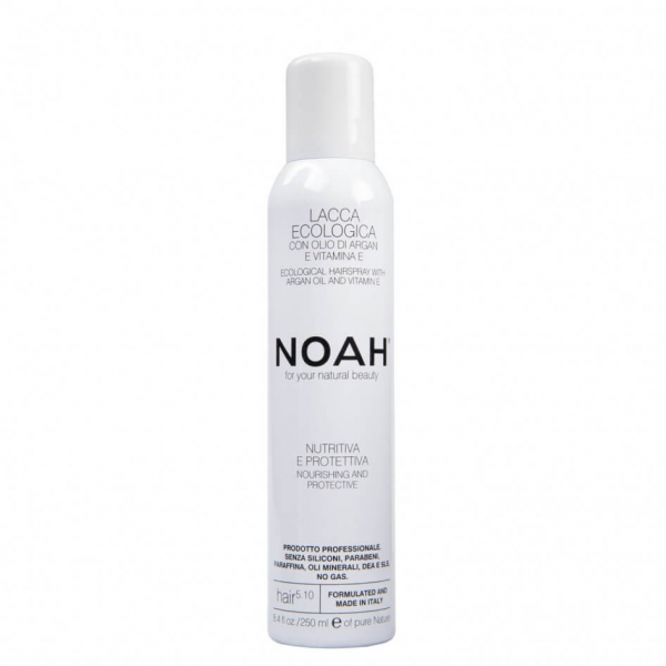 Spray fixativ ecologic cu Vitamina E si ulei de argan (5.10), Noah, 250 ml 0