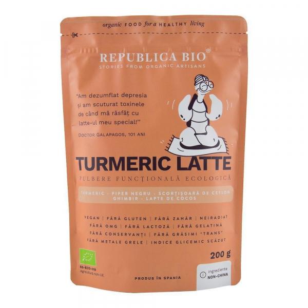 Turmeric Latte, pulbere functionala ecologica Republica BIO - 200 g 0