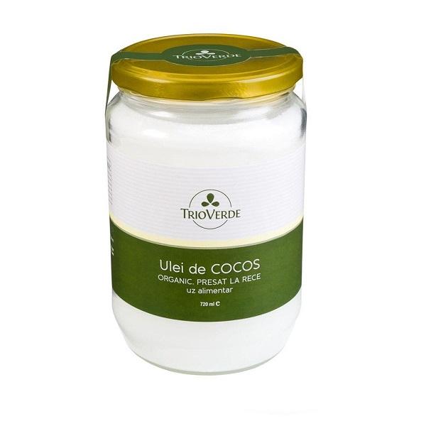 Ulei de cocos organic virgin 720ml Trio Verde 0
