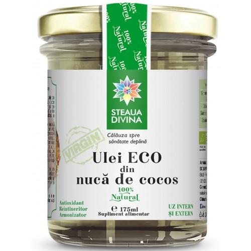 Ulei ECO din nuca de cocos 100% natural 175 ml Steua Divina 0