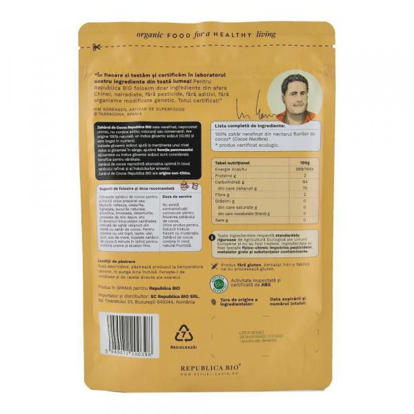 Zahar din nectar de cocos ecologic pur Republica BIO - 200 g 1
