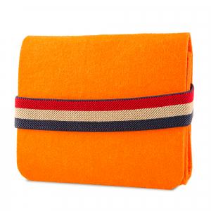 Mini geanta din fetru pentru pastrarea uleiurilor esentiale, portocalie, CuteBag1