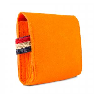 Mini geanta din fetru pentru pastrarea uleiurilor esentiale, portocalie, CuteBag2