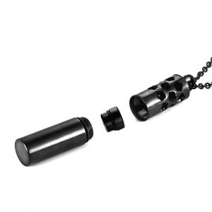 Colier tip sticla de parfum negru 40 mm pentru uleiuri esentiale ZaZa!2