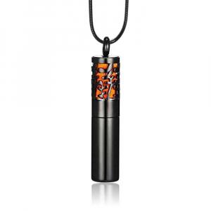 Colier tip sticla de parfum negru 40 mm pentru uleiuri esentiale!0