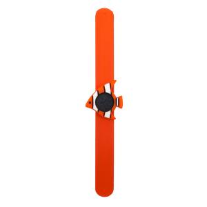 Bratara din silicon pentru aromaterapie tip slap-band cu model peste, insert lava stone, portocalie, Naturall!2