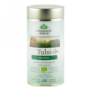 Ceai Tulsi (Busuioc Sfant) Original 100g Organic India - Antistres & Energizant0