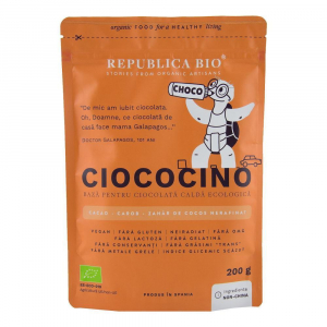 Ciococino baza pentru ciocolata calda ecologica Republica BIO - 200 g0