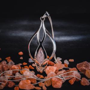 Colier si lant din inox, suflate cu argint Infinity Quartz by ZaZa0