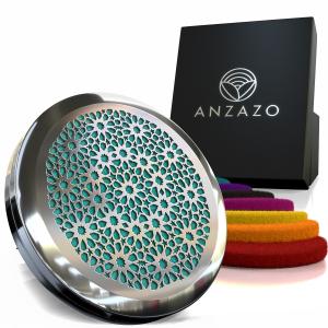 Difuzor aromaterapie auto 3.8 cm argintiu, ANZAZO -  geometrie sacra din inox0