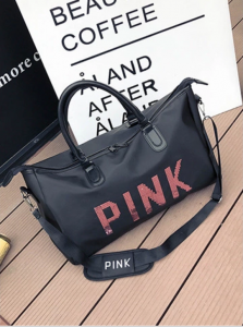 Geanta sport pentru plaja, roz cu negru Pink rezistenta la apa!7