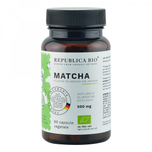 Matcha ecologica din Japonia (500 mg) 60 cps - Republica BIO0