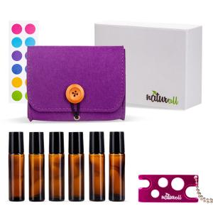PROMO: Geanta fetru + set 6 sticle amber + deschizator de sticle CADOU + cutie de cadouri alba.0