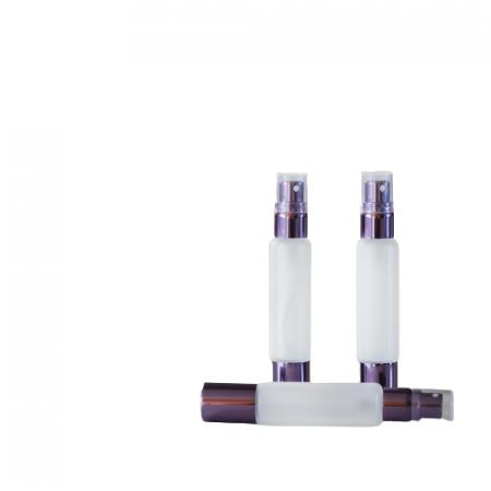Set 3 sticle 10 ml dublu capat, spray + roll-on metalic frosted glass ZaZa4