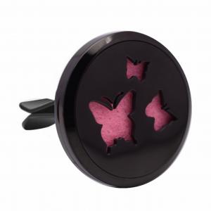 Difuzor auto 3.8 cm pentru uleiuri esentiale negru Naturall - model cu Fluturi1