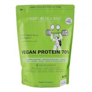 Vegan Protein 70% - pulbere proteica ecologica 600g - Republica BIO0