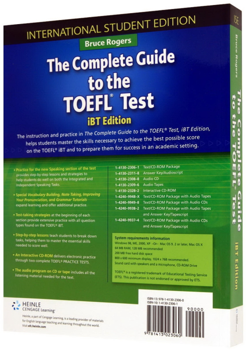 Complete Guide to the TOEFL Test - iBT - Edition , The Student's Book with CD-ROM [1]