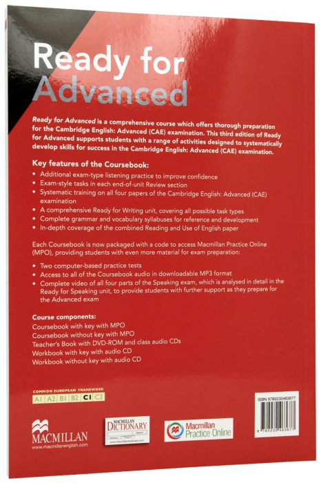 Ready for Advanced (CAE) Coursebook with eBooks and key - 3rd Edition [1]