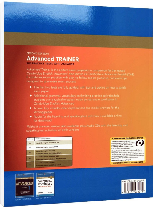 Advanced (CAE) Certificate Trainer 2015. Six Practice Tests With Answers [1]