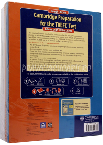 Cambridge Preparation for the TOEFL iBT Test (4th Edition) Book with CD-ROM and Audio CDs (8) Pack [1]