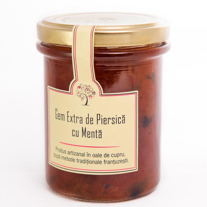 Gem de Piersica cu Menta 230g - Les saveurs d'Yveline 0