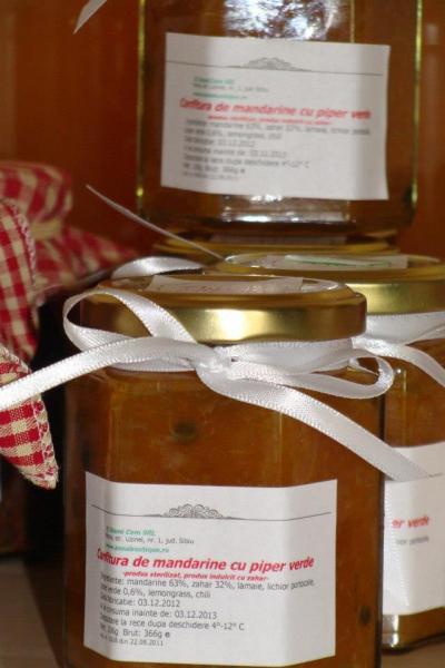 Confitura de mandarine cu piper verde 365ml - Anna Boutique 0